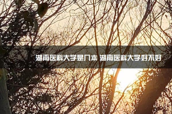 湖南医科大学是几本 湖南医科大学好不好