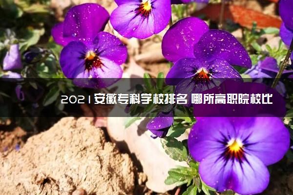 2021安徽专科学校排名 哪所高职院校比较好