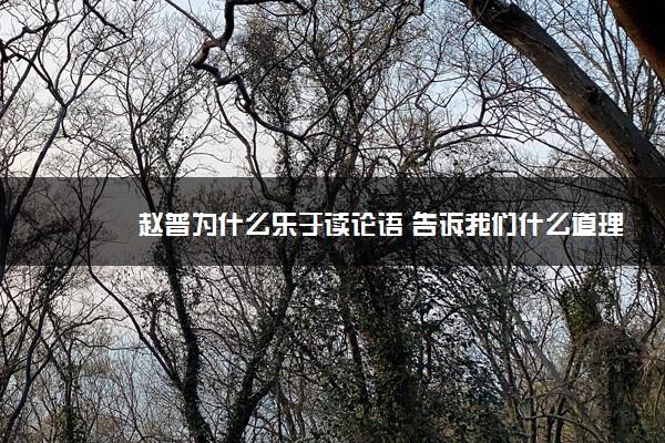 赵普为什么乐于读论语 告诉我们什么道理
