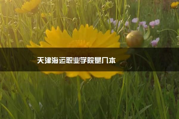 天津海运职业学院是几本