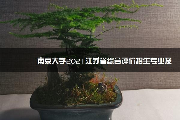 南京大学2021江苏省综合评价招生专业及计划 哪些专业招生