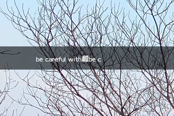 be careful with和be careful of的区别