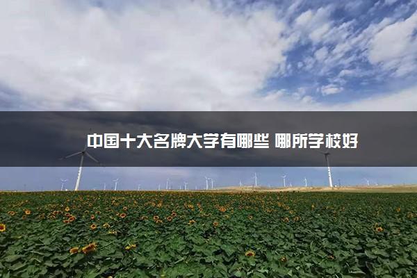 中国十大名牌大学有哪些 哪所学校好