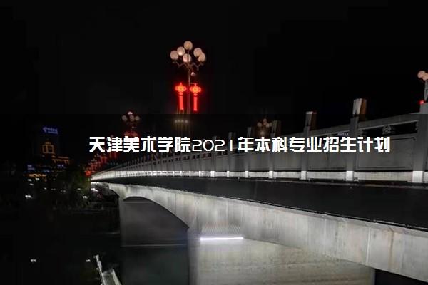 天津美术学院2021年本科专业招生计划 有什么专业