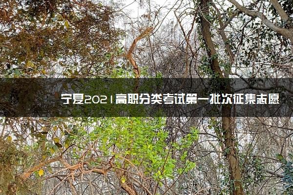 宁夏2021高职分类考试第一批次征集志愿填报时间及方法 怎么填报