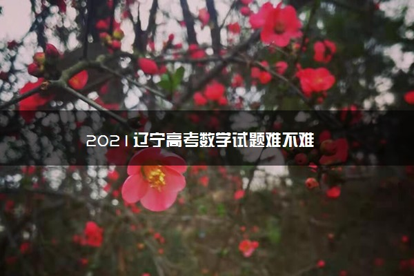 2021辽宁高考数学试题难不难