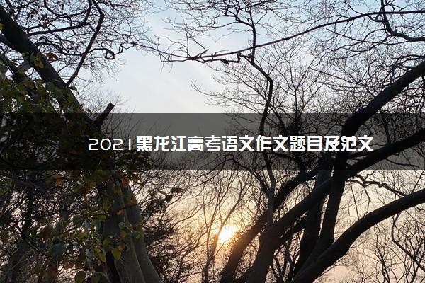 2021黑龙江高考语文作文题目及范文