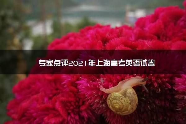 专家点评2021年上海高考英语试卷