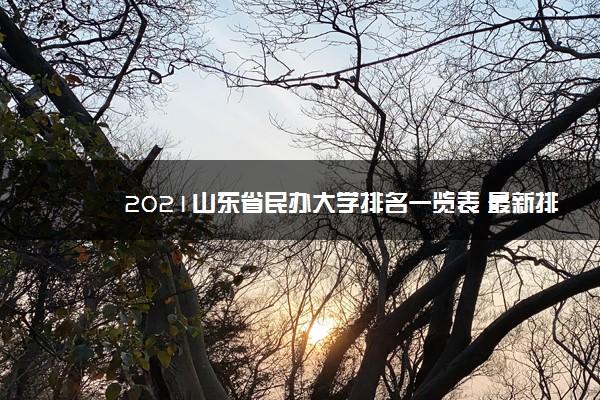 2021山东省民办大学排名一览表 最新排行榜