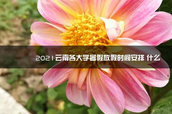 2021云南各大学暑假放假时间安排 什么时候开学