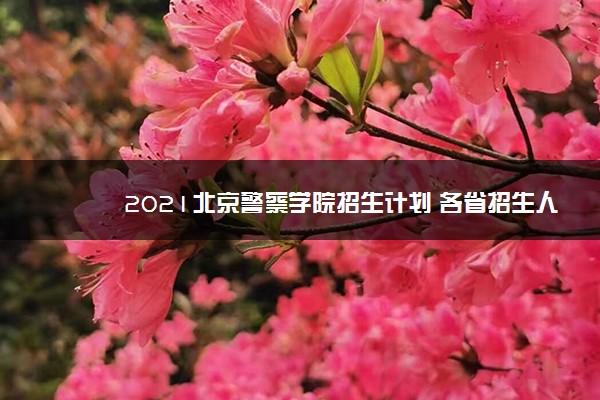 2021北京警察学院招生计划 各省招生人数是多少