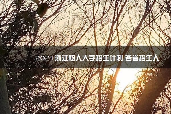 2021浙江树人大学招生计划 各省招生人数是多少