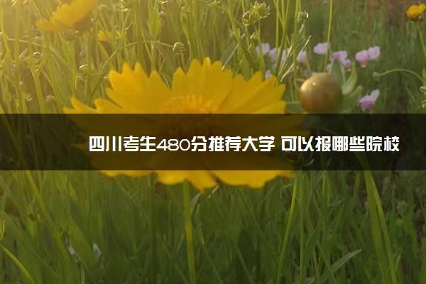 四川考生480分推荐大学 可以报哪些院校