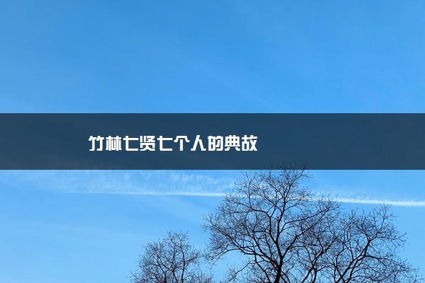 竹林七贤七个人的典故