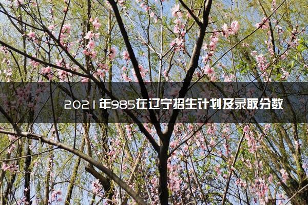 2021年985在辽宁招生计划及录取分数线