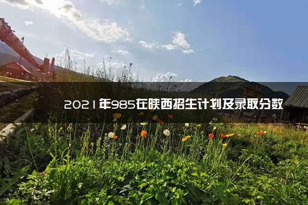 2021年985在陕西招生计划及录取分数线
