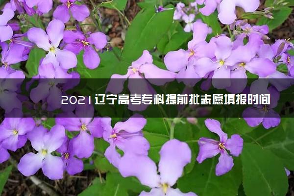 2021辽宁高考专科提前批志愿填报时间 什么时候填志愿