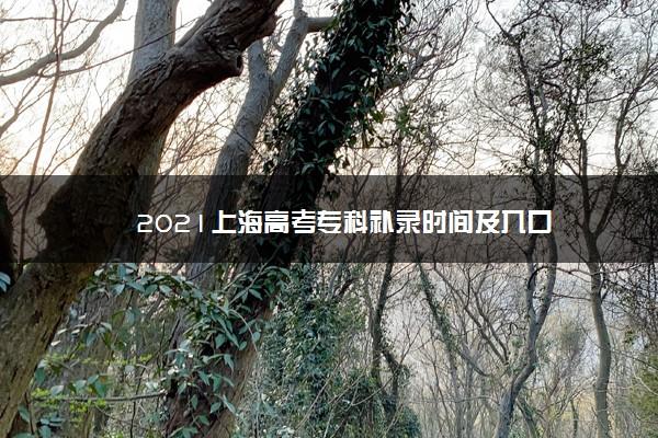 2021上海高考专科补录时间及入口