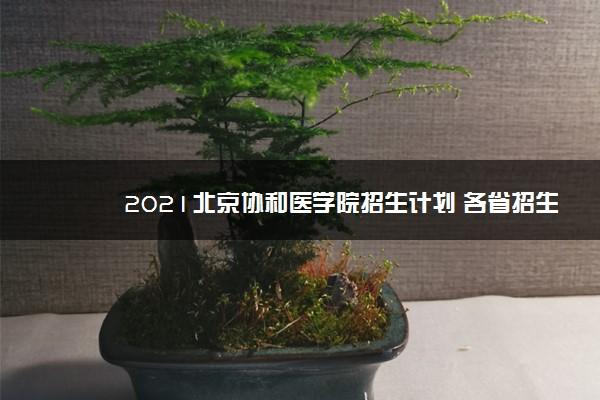 2021北京协和医学院招生计划 各省招生人数是多少