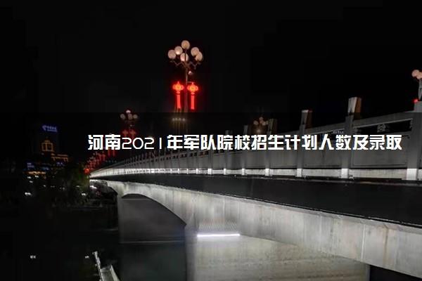 河南2021年军队院校招生计划人数及录取原则