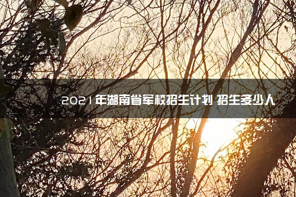 2021年湖南省军校招生计划 招生多少人