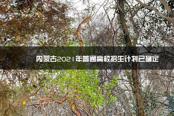 内蒙古2021年普通高校招生计划已确定