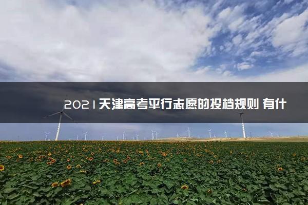 2021天津高考平行志愿的投档规则 有什么规则