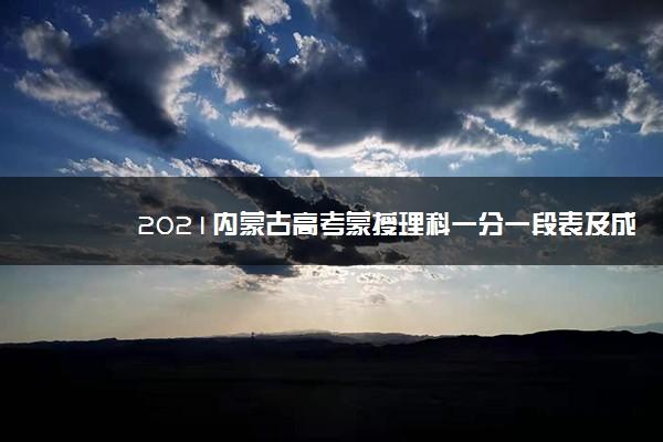 2021内蒙古高考蒙授理科一分一段表及成绩排名