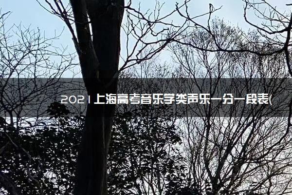 2021上海高考音乐学类声乐一分一段表(文化课)