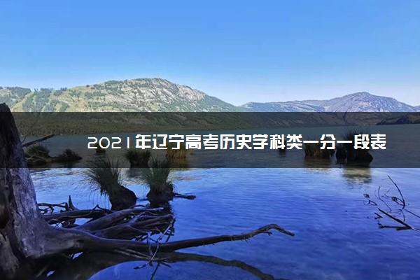 2021年辽宁高考历史学科类一分一段表 最新成绩排名