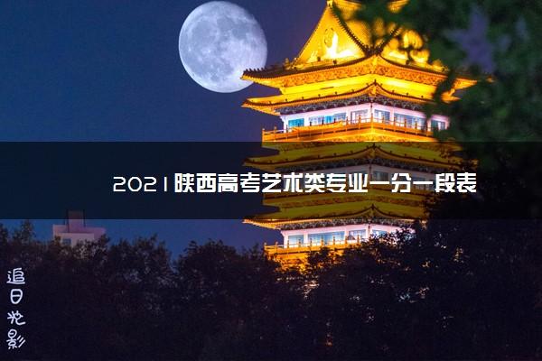 2021陕西高考艺术类专业一分一段表