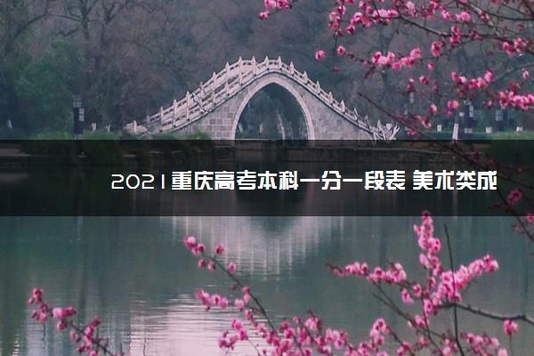 2021重庆高考本科一分一段表 美术类成绩排名