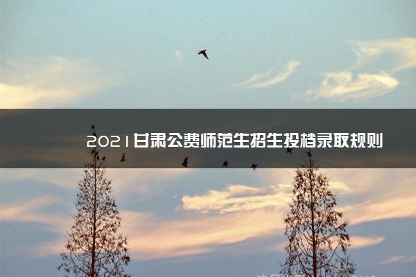 2021甘肃公费师范生招生投档录取规则
