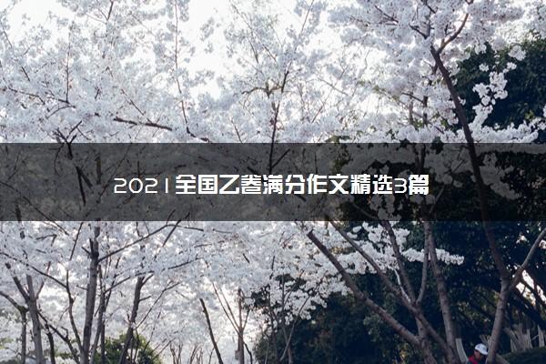 2021全国乙卷满分作文精选3篇