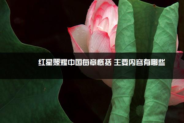 红星照耀中国每章概括 主要内容有哪些