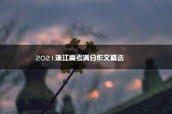 2021浙江高考满分作文精选