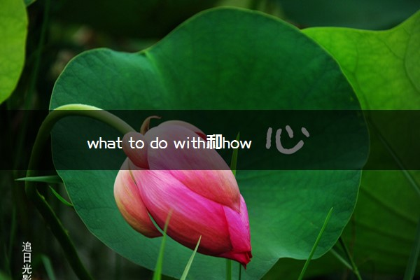 what to do with和how to deal with的区别