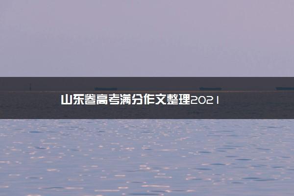 山东卷高考满分作文整理2021