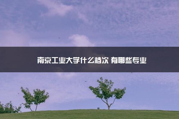 南京工业大学什么档次 有哪些专业