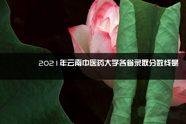 2021年云南中医药大学各省录取分数线是多少