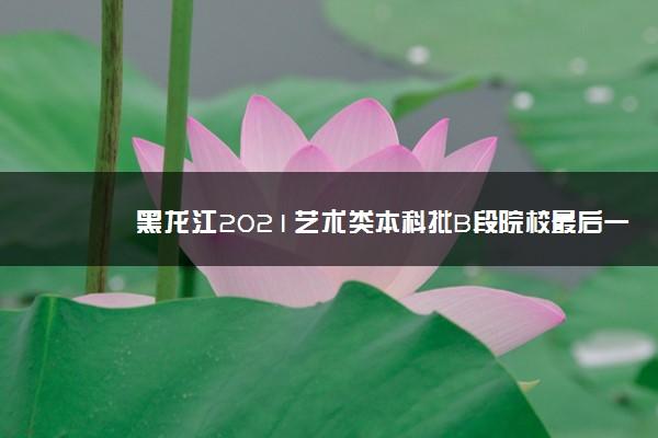 黑龙江2021艺术类本科批B段院校最后一次征集志愿招生计划