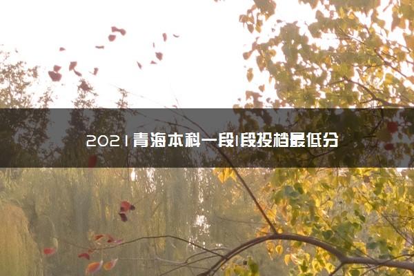 2021青海本科一段I段投档最低分