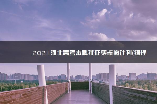 2021河北高考本科批征集志愿计划(物理)