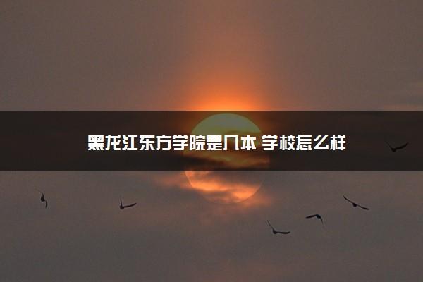 黑龙江东方学院是几本 学校怎么样