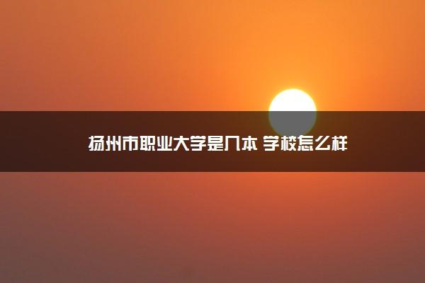 扬州市职业大学是几本 学校怎么样