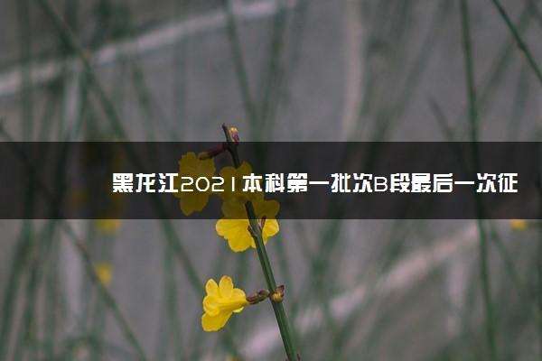 黑龙江2021本科第一批次B段最后一次征集志愿及省内农村专项降低20分征集志愿填报须知