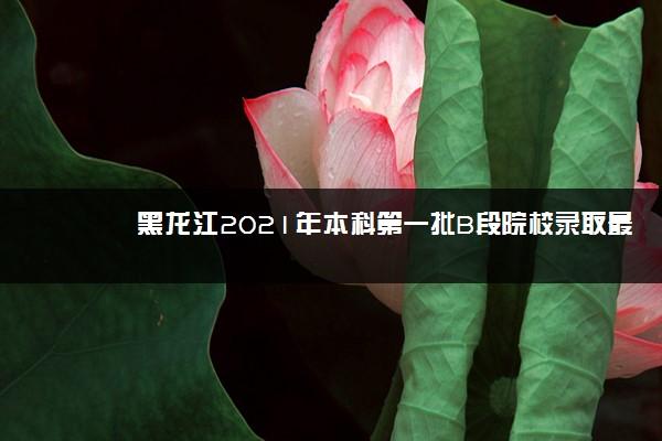 黑龙江2021年本科第一批B段院校录取最低分数线(三)