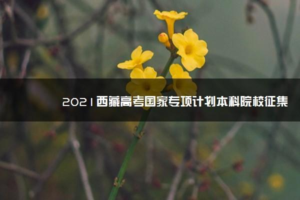 2021西藏高考国家专项计划本科院校征集志愿计划