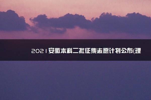 2021安徽本科二批征集志愿计划公布(理工)