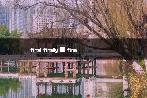 final finally 和 finalize的区别